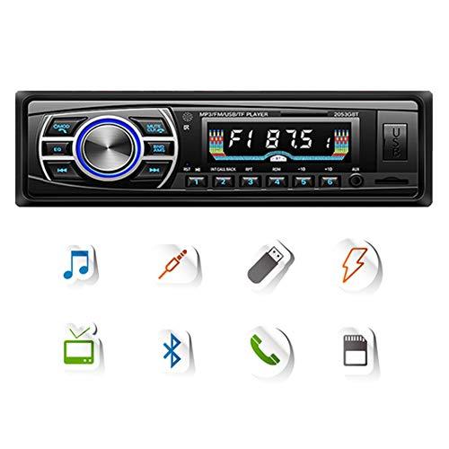 DONGMAO Autoradio 12V / 24V OLED Schermo a Colori Bluetooth FM Turner Aux-in Supporto Bluetooth Lettore di schede USB/SD/MMC Car MP3 Player 1DIN per ISO