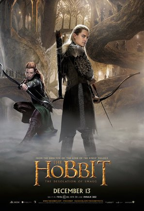 Import Posters The Hobbit : The Desolation of Smaug – U.S Movie Wall Poster Print - 30CM X 43CM