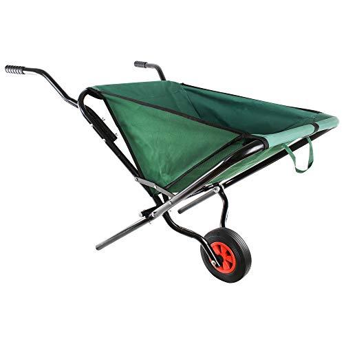 UPP Faltbare Schubkarre - Max. 30 kg, 55 L | Transportwagen ideal für Holz, Gartenabfälle Laub, Erde, etc. | Platzsparende Gartenkarre
