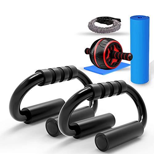 LTLGHY Bauchroller AB Roller Bauchtrainer Fitnessset Für Bauchtraining Zu Hause Und in Fitnesstudios Mit Kniematte Bauchmuskeltraining Und Muskelaufbau Für Anfänger Und FortGeSchritTene,a