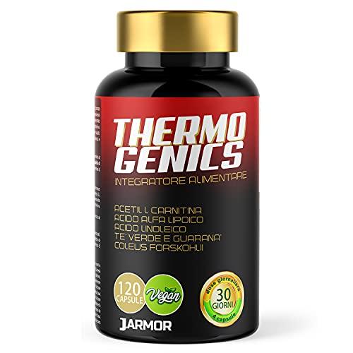 J.ARMOR Pillole Brucia Grassi Potenti Veloci Drenante Forte Dimagrante Thermo Genic 120 CPS