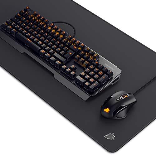 Titanwolf Gaming Set - mechanische Tastatur ALUMAR MMO 10800dpi Gaming Maus Specialist XXL Mauspad Symbol - Mechanical Keyboard - Anti-Ghosting - LED Backlight - 19 Lichtmodi - Makro-Modus