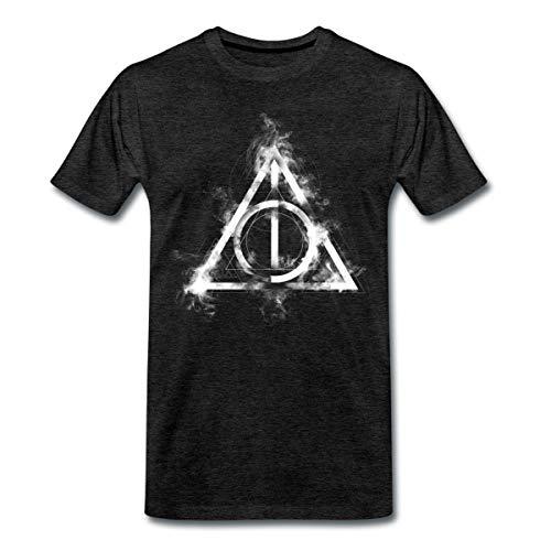 Harry Potter Die Heiligtümer des Todes Symbol Männer Premium T-Shirt, M, Anthrazit