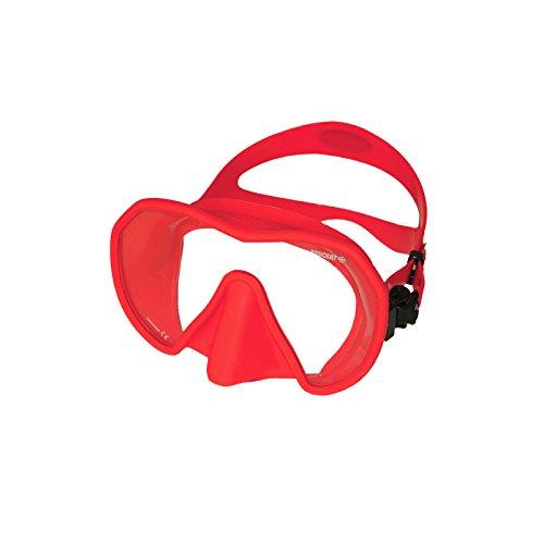 Beuchat Maxlux S Tauchmaske für schmale Gesichtsformen , Farbe:rot