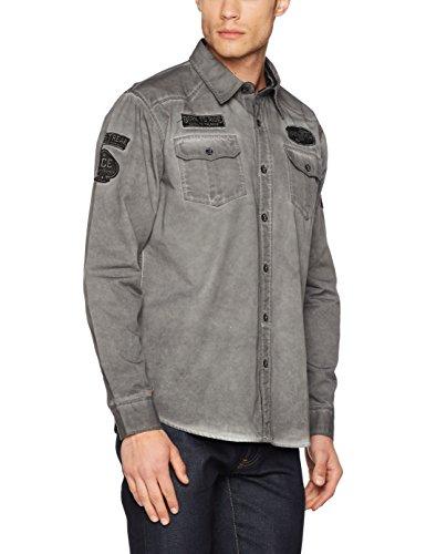 Goodyear Fashion Herren Mobile Langarmshirt, Vintage Anthracite, S