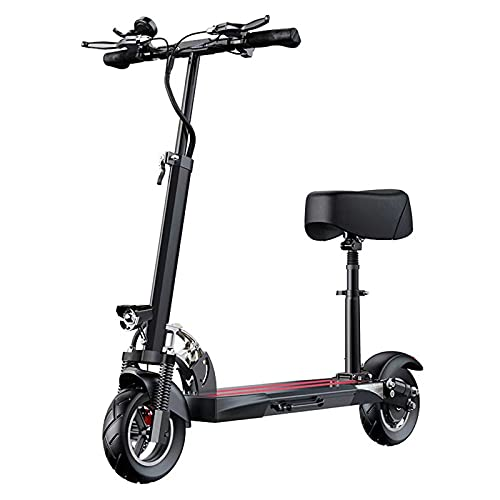 Patinete Eléctrico, 500W 48V E-Scooter para adultos con asiento, 10