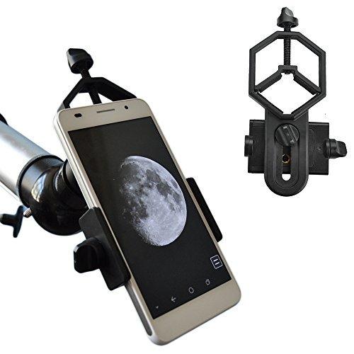 Solomark Metallo Smartphone Adattatore per Telescopio Spotting scope Microscopio Binoculare Monoculare con smartPhone 6/6Plus/5S/4S Samsung Galaxy S6/S4/S3/Note 4 LG e Altro (tipo standard)