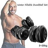 Mancuernas rellenas de agua de 5 a 20 kg, pesos ajustables con agua para viajes,...