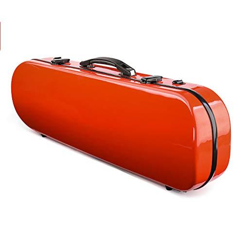 BLKykll Red Violin Case,Custodia per Violino 4/4,per Il Trasporto E Lo Stoccaggio Professionale del Violino Accessori per Violino Fibra di Carbonio FRP