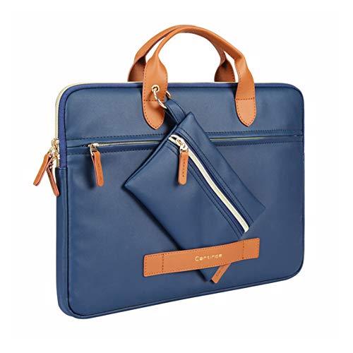 ZH Laptop Tote Bag for Women 15.6 Inch Waterproof Lightweight Leather Computer Laptop Bag Women Business Office Work Bag Briefcase Large Travel Handbag Shoulder Bag,Blue