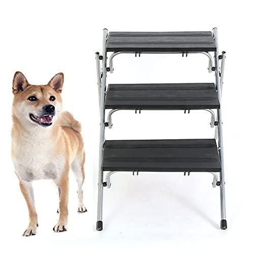 NXL Rampa Plegable para Escaleras De Coche para Perros, para Perros Grandes Y Pequeños, 3 Escalones, Escalera Portátil para Perros, Escalera De Escalada 2 En 1, Escalera De Escalada