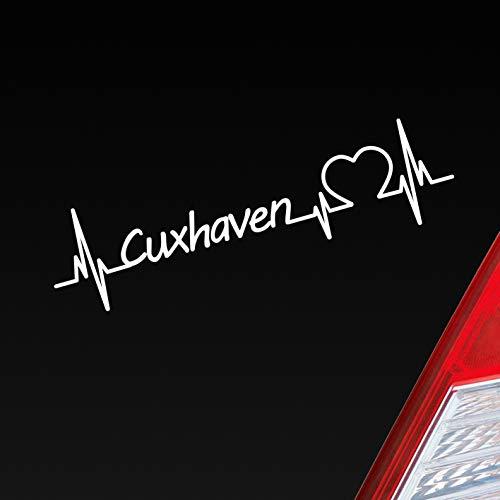 Auto Aufkleber Cuxhaven Herz Puls Stadt City Sticker Liebe Love Herzschlag Heimat Heckscheibenaufkleber Autoaufkleber
