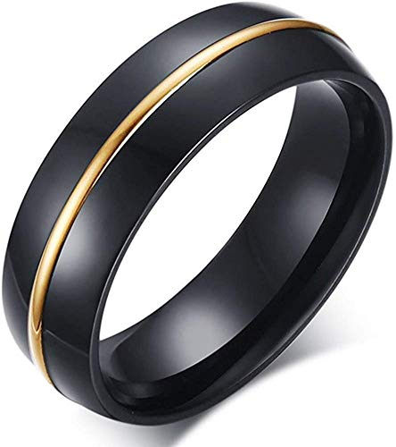 LAMUCH Men's Wedding Bands Classic 6MM Tungsten Titanium Steel Enternity Promise Rings for Him High Polish Comfort Fit US Size 7-11