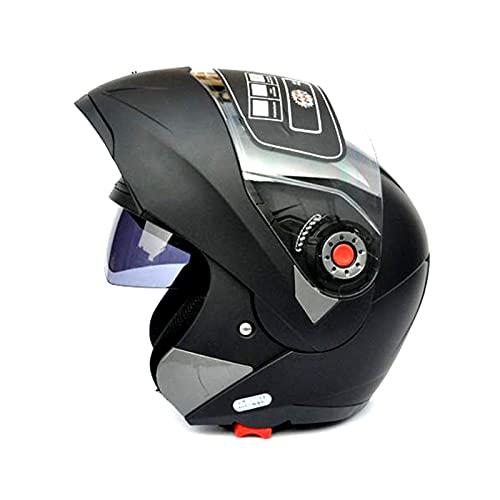 gzcfesbn Motocicleta Lentes Doble Cascos Seguras Pegatinas Casco Casco Gafas de Sol Despertar Cara Combinación de Cara ahgzc (Color : 1, Size : XXL)
