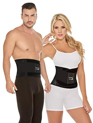 Tecnomed Latex Waist Trainer Belt Body Shaper Belly Wrap Trimmer Slimmer Compression Band for Weight Loss Workout Fitness and Lumbar Support, Best Abdominal Trainer