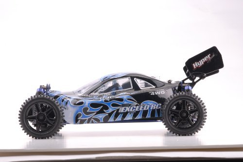 1/10 2.4Ghz Exceed RC Hyper Speed Beginner Version .16 Engine Nitro Powered Off Road Buggy Storm BlueSTARTER KIT REQUIRED