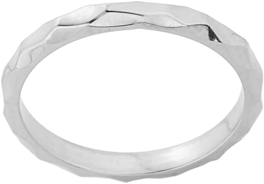 Stacking 14k White Gold Sizable Spike Band Toe Ring