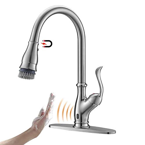 APPASO Touchless Kitchen Faucet with Pull Down Sprayer, Activated Hands-Free Motion Sensing Kitchen...
