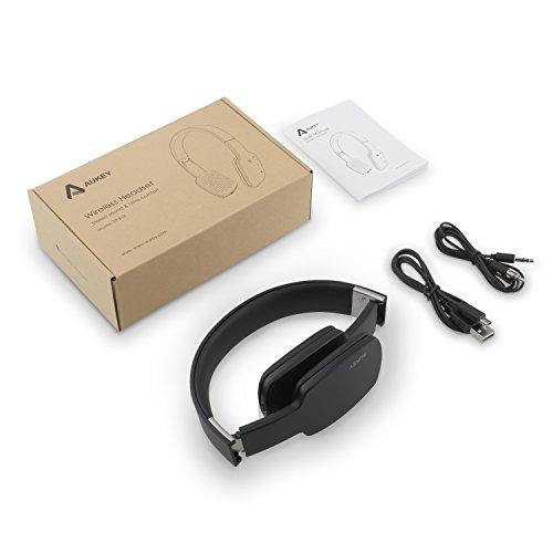 Aukey ep-b18–Sportlich, Kopfhörer mit Bluetooth 4.1und Mikrofon für Laufen Schwarz