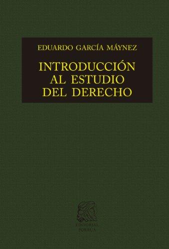Introducción al estudio del derecho (Biblioteca Jurídica...
