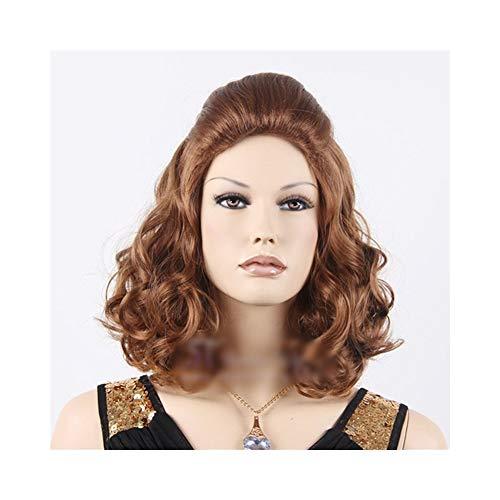 CHENEVANS Classic Maroon Lady Kurze geschweifte Schulterlänge für Cosplay Party Halloween Kostüm (Farbe : Photo Color)
