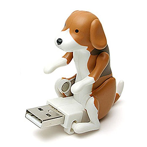 Black Friday Sale GreatFun Funny Cute USB Pet Humping Spot Dog Toy Stress Reliever Christmas Gift Usb Toy (Brown)