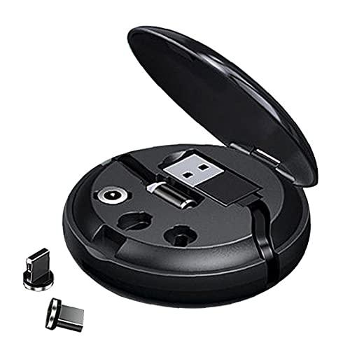Cable retráctil 3In1 Cargador Tipo de datos Cable de cargador C Cable de extensión de carga rápida para teléfonos inteligentes IOS Dispositivos Negro Smart Life