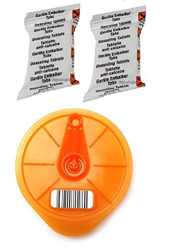 Aqualogis Service T-Disc y 2 tabletas descalcificadoras compatibles con Tassimo Bosch 576837,624088, 17001491, Caddy, Charmy, My Way, Joy, Happy