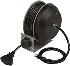 Strongway Heavy-Duty Retractable Extension Cord Reel - 30ft. 12/3, Triple Tap