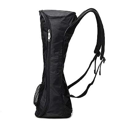 laonBonnie Tragbare Größe Oxford Tuch Hoverboard Bag Sport Handtaschen für selbstausgleichende Auto 6,5 Zoll Elektroroller Tragetasche - schwarz