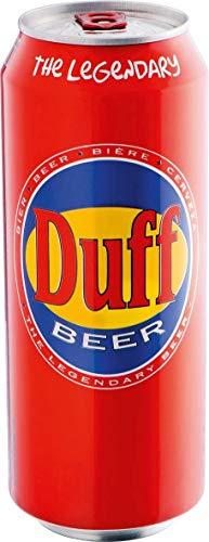 Duff Bier 500 ml Lager Hell Dose DPG, 24 Dosen im Tray, inkl. Pfand