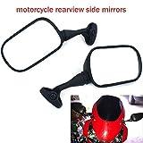 YSMOTO Espejos laterales de visión trasera para motocicleta Honda CBR 929 RR CBR929RR 2000-2001 CBR 954 RR CBR954RR 2002-2003 Sport Bike con 2 piezas espejo de plástico negro