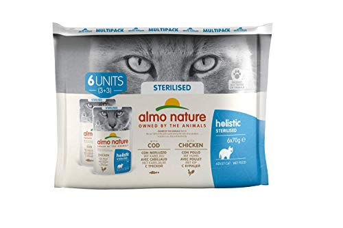 almo nature Daily Fonctionnelle bindis Sterilised-Complete Wet Cat Nourriture (6x 70g)
