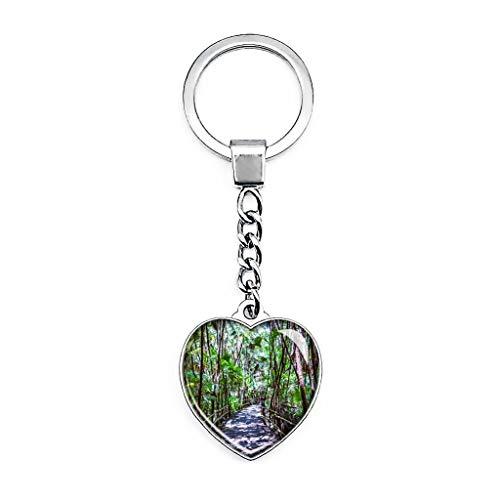 Belize Bacab Jungle Park Llavero creativo de doble cara con forma de...