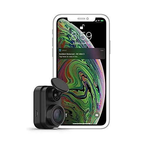 Garmin Dash CAM Mini 2 - Cámara Delantera para Coche de 2.1 MP Que graba a 1080 píxeles y 140 Grados, Detector de incidentes y Modo vehículo aparcado