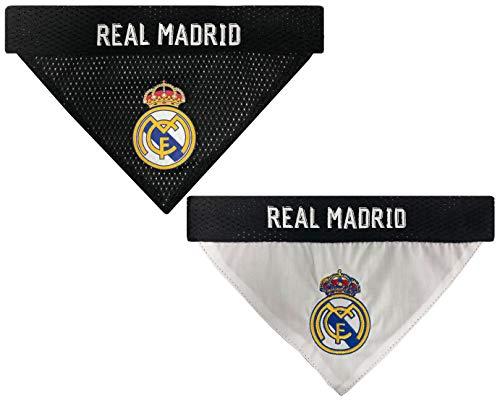 MLS Real Madrid REVERSIBLE BANDANA for DOGS & CATS. Cutest Pet Bandana Scarf Bib Apron Sports Fan Apparel, Team color, SIZE: Large / X-Large