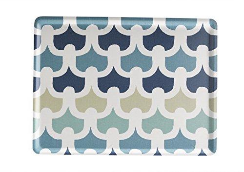 Platex 102820232S Plateau en stratifié Petit Modèle décor Méli-Mélo Bleu,