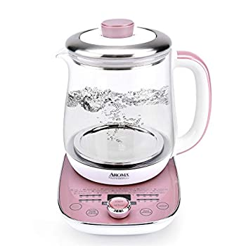 Aroma Professional AWK-701 16-in-1 Nutri-Water Green Fruit Flower Tea Coffee Multi-Use Kettle Delay Timer 1.5L Pink