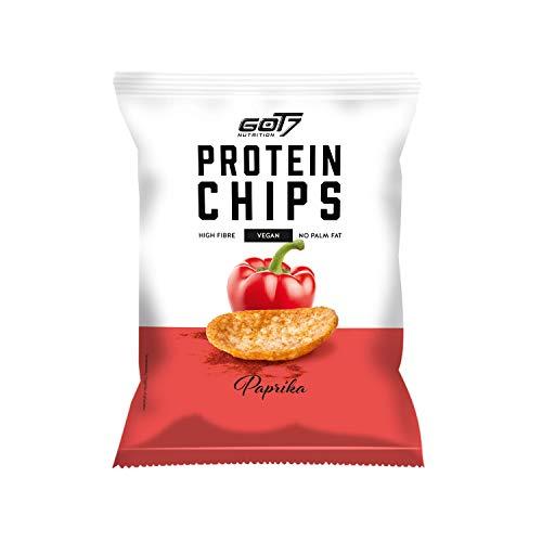 GOT7 High Protein Chips - Snack 40% Protein Fitnesssnack – Ideal zur Diät und für zwischendurch 6x 50g (Paprika)