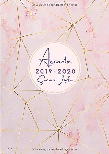 Agenda 2019 2020 Semana Vista A5: Agenda y cuaderno 18...