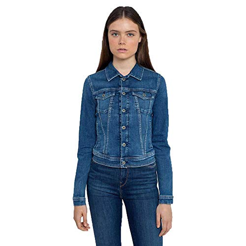 Pepe Jeans Core Jacket Cazadora Vaquera, Azul (000denim), X-Large para Mujer