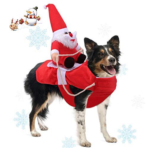 WYJBD Laufender Weihnachtshundekostüm Weihnachten Pet Kleidung, Hundekleid Partei Verkleiden Kleidung for kleine Große Hunde Haustier Lustige Feiertag Festival Outfit (Size : Small)