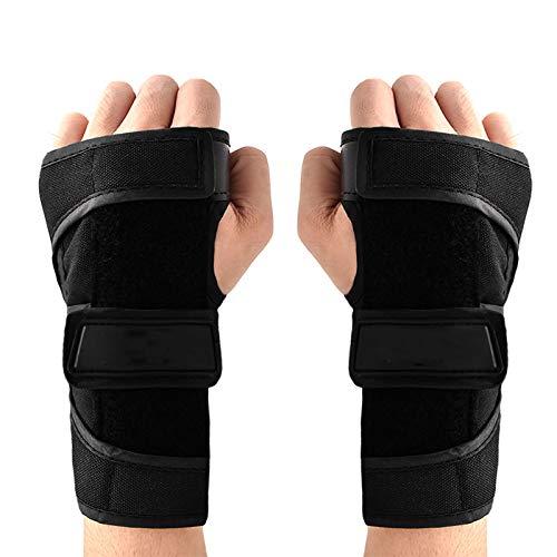 JFF Skating Handschützer Handgelenkschützer Rollschuh Handschuh Handschuh Handschützer Harte Hand Unterstützung Starke Schutzausrüstung Skating Handschuhe,S