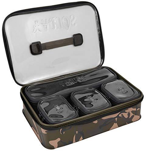 Fox Aquos Camolite Accessory Bag System 37x26x7cm - Angeltasche zum Karpfenangeln, Taschensystem für Karpfenzubehör, Tackletasche, Zubehörtasche