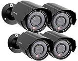 Zmodo 4-Pack Analog CCTV 700TVL HD Bullet Home Security Cameras IR Cut