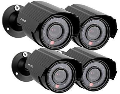 Zmodo 4-Pack Analog CCTV 700TVL HD Bullet Home Security Cameras IR Cut