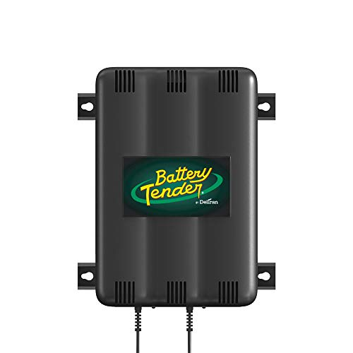 Battery Tender 2-Bank Charger: 12V, 1.25 Amp Battery Charger with 2 Charging Banks - Smart Battery Charger and Maintainer Station Charges Up to 2 Powersport Batteries at Once - 022-0165-DL-WH