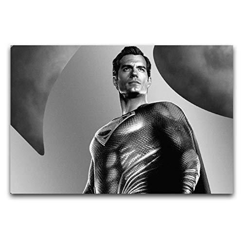 Justice League Henry Cavill Clark Kent Filmposter, Leinwandbild, Wanddekoration, 60 x 90 cm