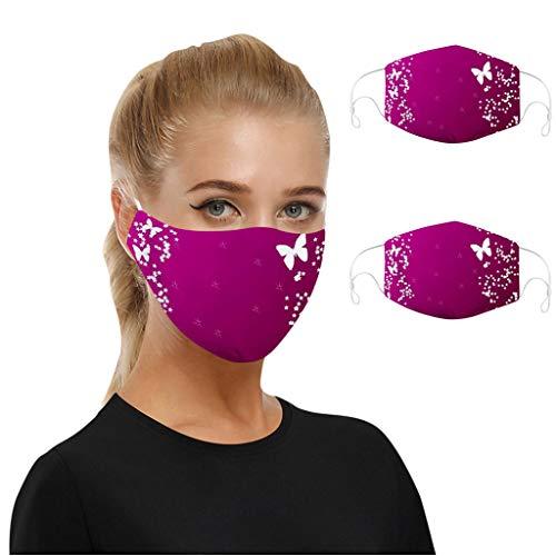 WEXCV 2pcs Mundschutz Face Cover Multifunktionstuch Motorrad Winddicht Atmungsaktiv Mundschutz Halstuch Schön Atmungsaktiv Sommerschal (A2)
