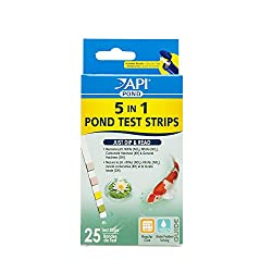 Pond test strips for testing water pH